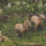 Плетеные фигурки для сада